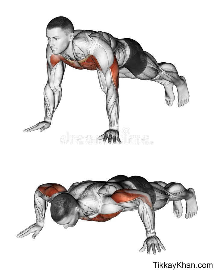 Push-Up With Close Grip