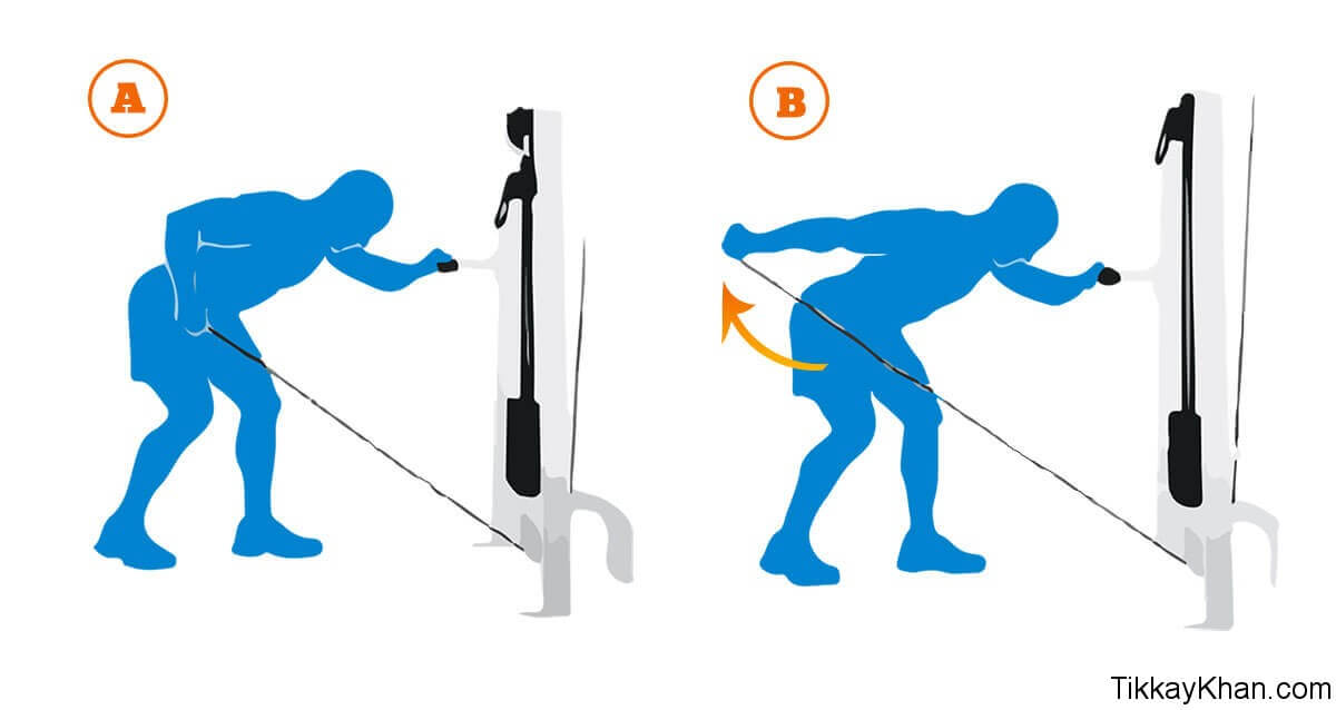 Triceps Workout With Cable Kick Back