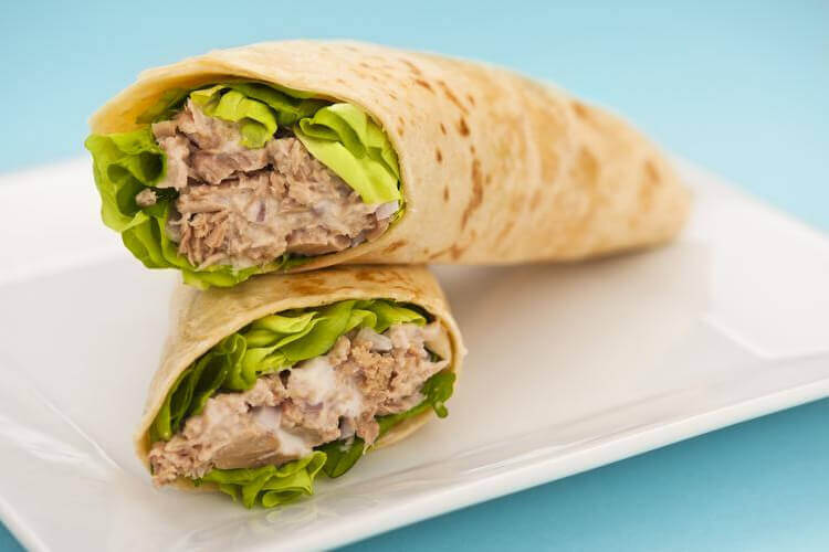 Crusty Tuna Wrap