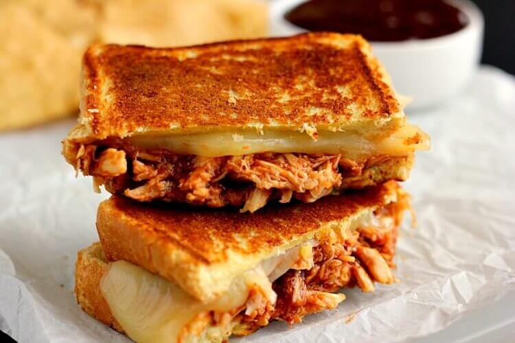 Grilled Cheese Sandwich and Chicken