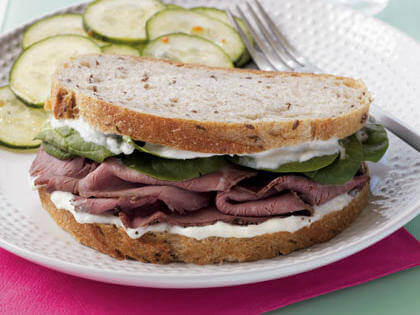 Horseradish and Roast Beef Sandwich