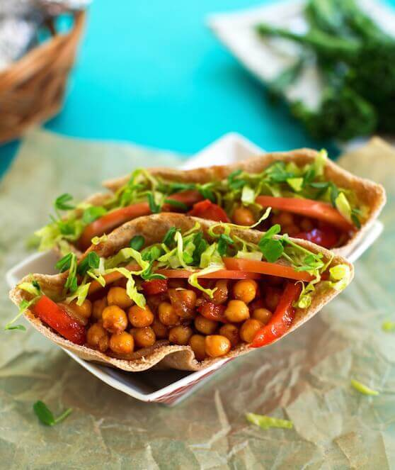 Hot Chickpea Pita