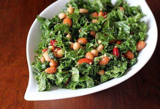 Kale with Bean Salad