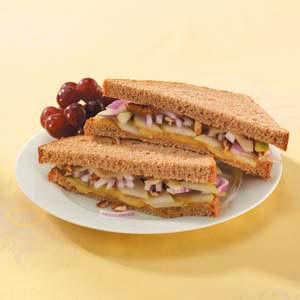 Pear, Swiss and ham Sandwich