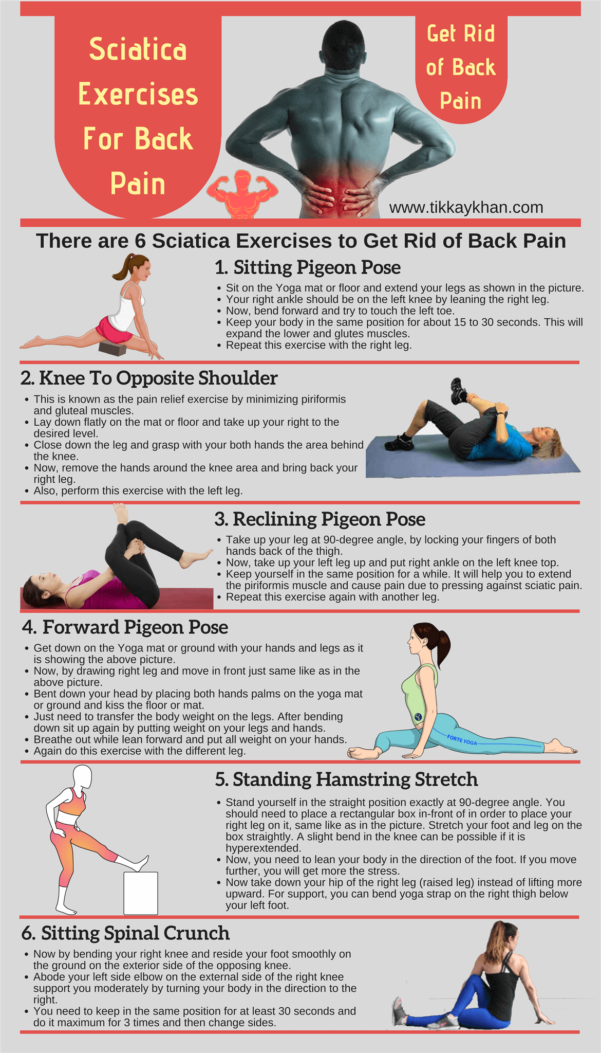 Sciatica Exercises For Back Pain