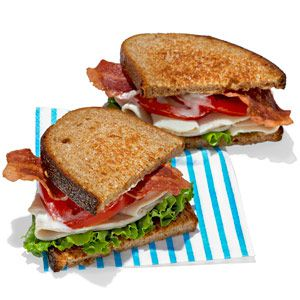 Turkey Bacon Lettuce and Tomato Sandwich