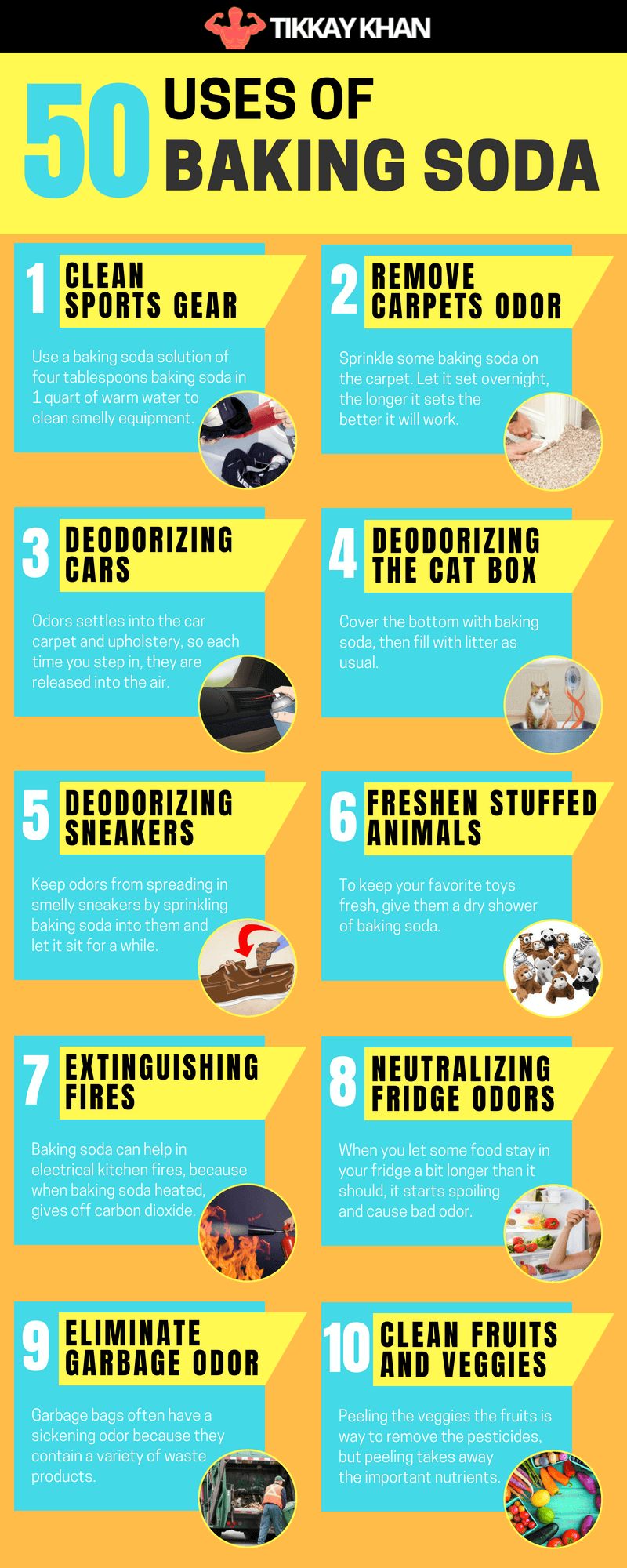 Uses Of Baking Soda Infographic