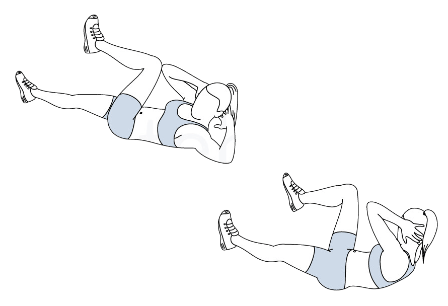 Elbow to Knee Crunches