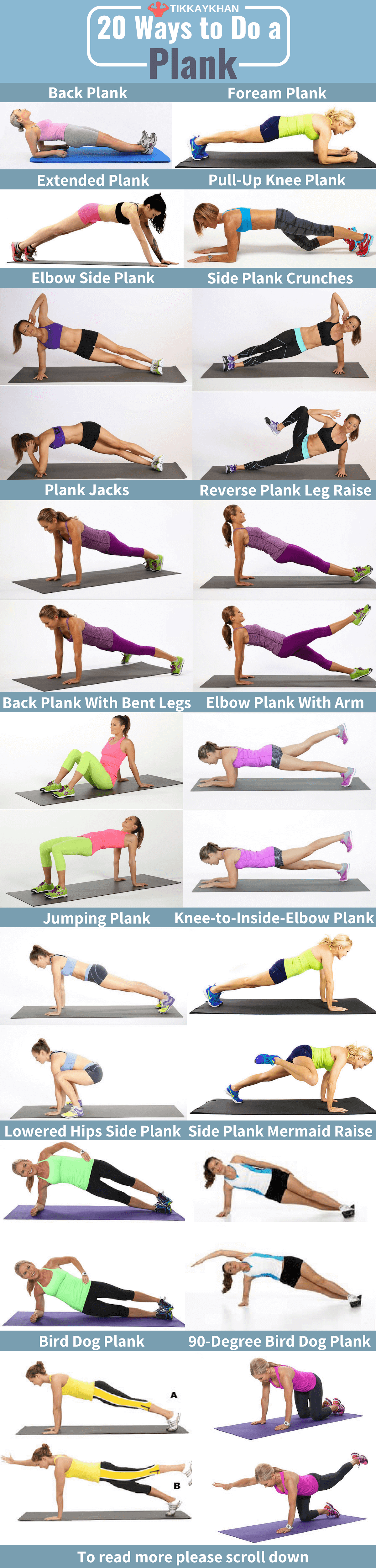 20 Ways to do a Plank Infographic