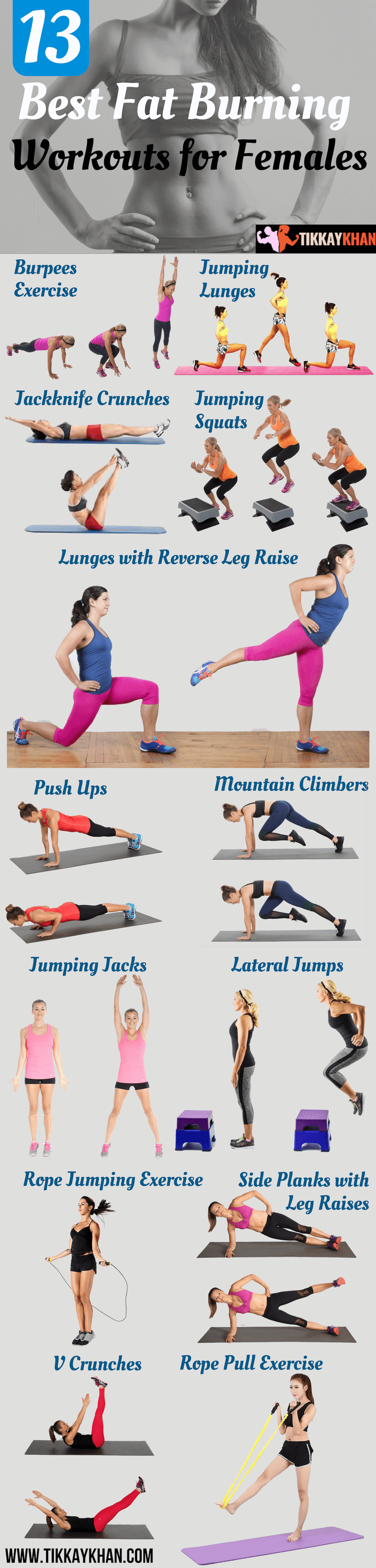 13 Best Fat Burning Workout for Females