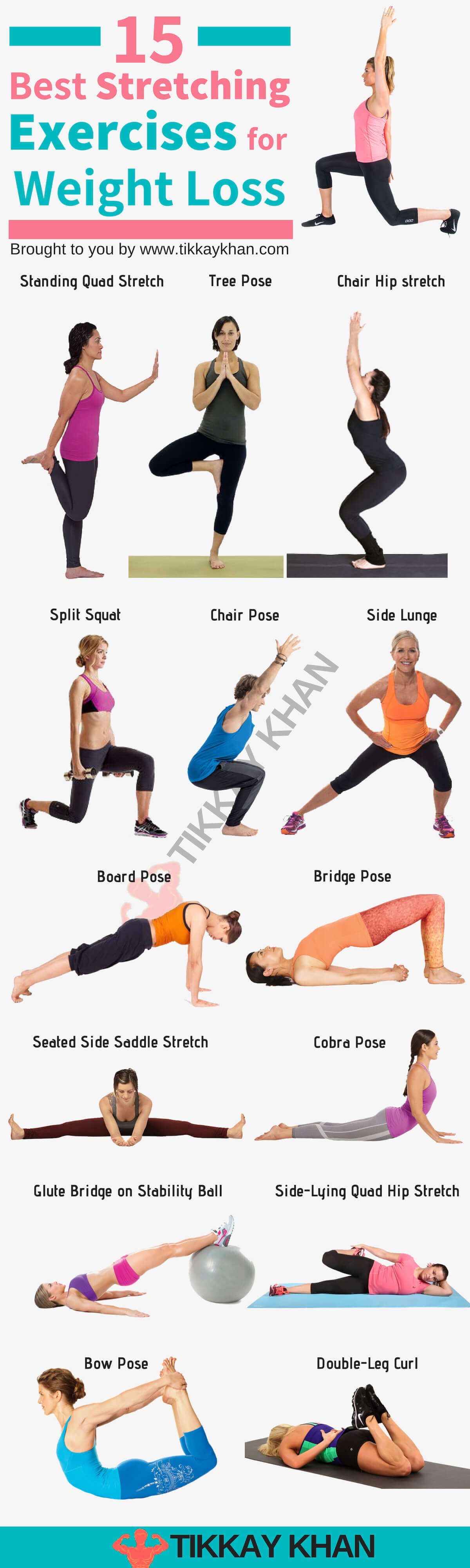 15 Best Stretching Exercises for Weight Loss