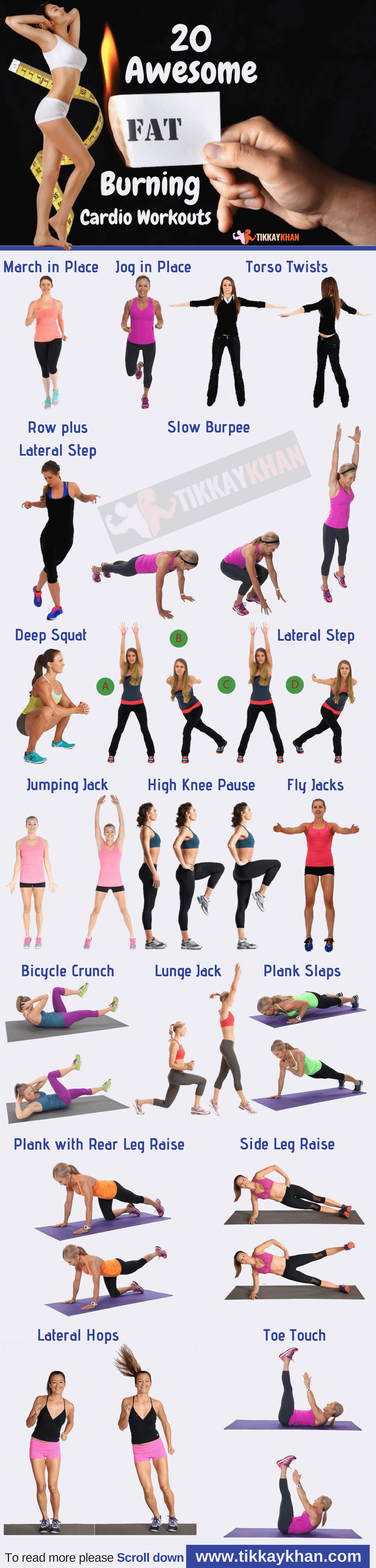 Fat Burning Cardio Workouts Infographic