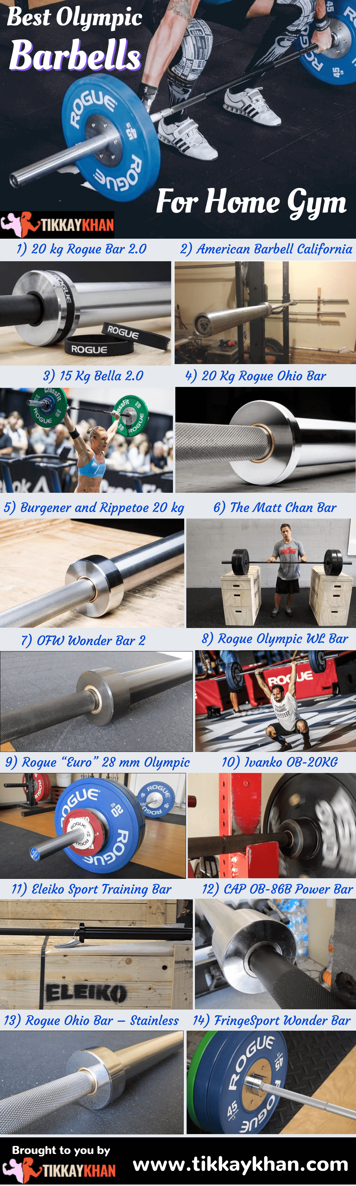 Best Olympic Barbells For Home Gym Infographic