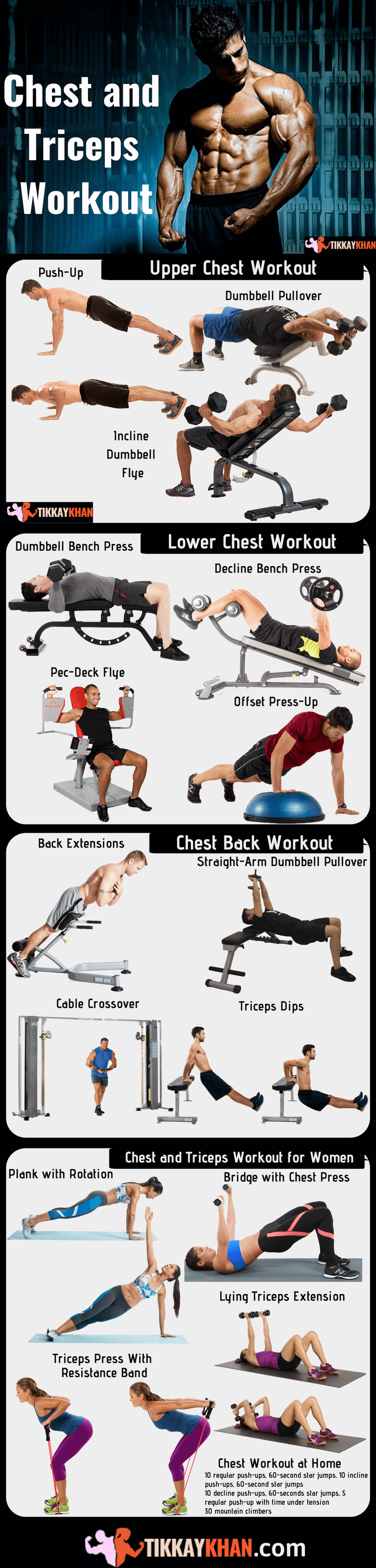 Chest and Triceps Workout Infographic
