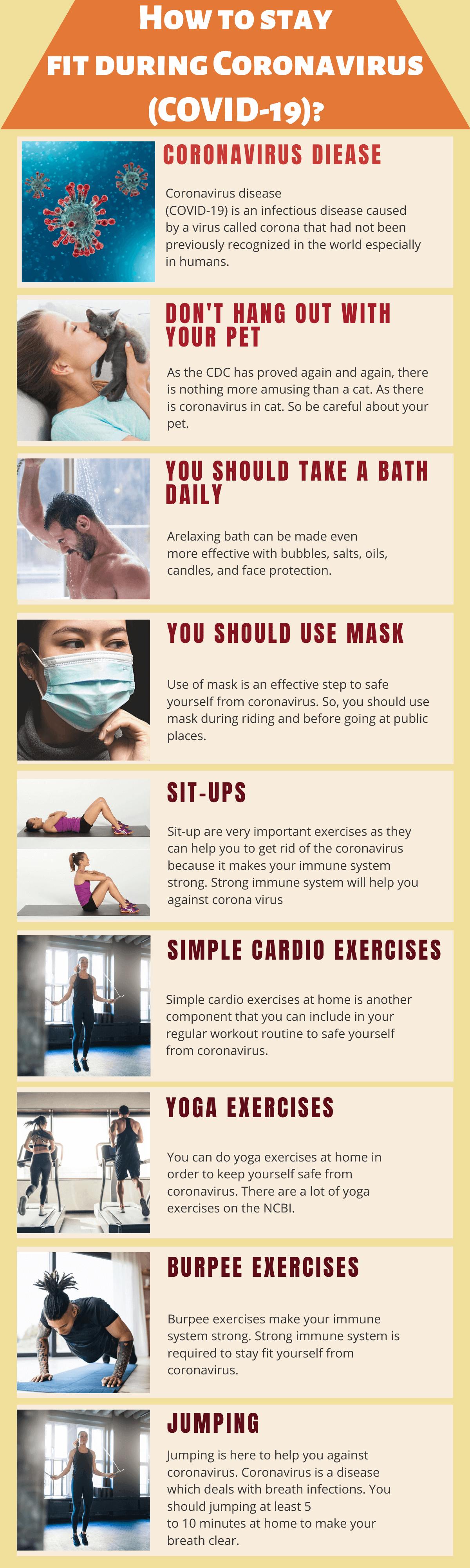 Best Exercises During Coronavirus, stay fit during coronavirus